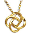 C19503 - Gold Plated Love / Friendship Knot Necklace 10mm