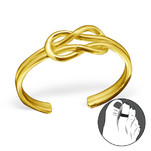 C21167 - Gold Plated Knot Toe Ring, Adjustable size