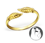B91-C21271 - Gold Plated Leaf Toe Ring, adjustable size