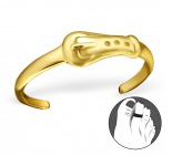 B63-C21159 - Gold Plated Belt Design Adjustable Toe Ring