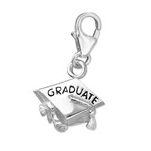C451-C7239 - 925 Sterling Silver Graduate Graduation Dangle Charm