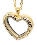 Gold Heart Floating Locket Necklace online store in South Africa
