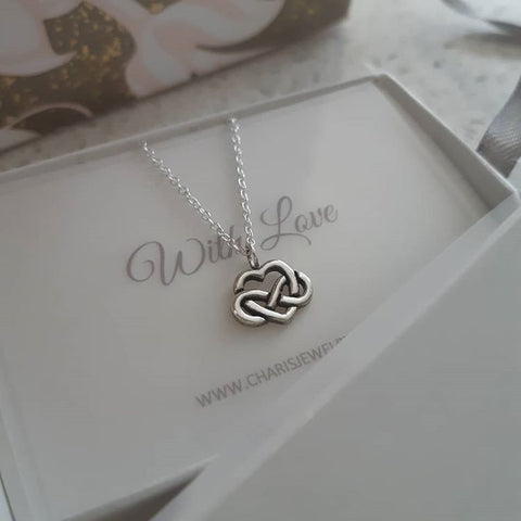 Sterling silver heart infinity necklace online jewellery shop in SA