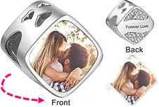 CAS102027 - 925 Sterling Silver Personalized Photo Charm