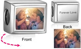 CAS101993 - 925 Sterling Silver Personalized Photo Charm