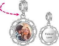 CAS101997- 925 Sterling Silver Personalized Dangle Photo Charm
