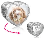 CAS101919 - 925 Sterling Silver Personalized Photo Charm