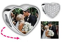 CAS101920 - 925 Sterling Silver Personalized Photo Charm