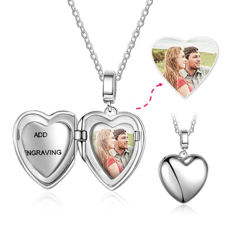CNE103621 - 925 Sterling Silver Personalized Photo Locket Necklace