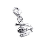 B132-C2745 - 925 Sterling Silver helicopter charm for charm bracelet
