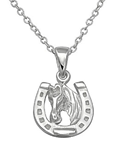 C576-C29874 - Sterling Silver Horse Shoe Necklace