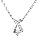 C23710 - Sterling Silver Criss Cross Necklace