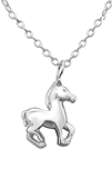 C573-C29889 - Sterling Silver Horse Necklace
