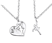 C26388 - 925 Sterling Silver BFF Ballerina Necklace Set