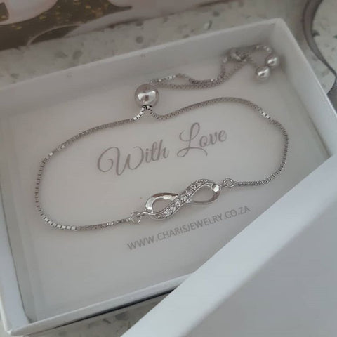 Sterling silver infinity bracelet online jewellery store in South Africa