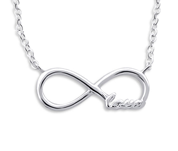 C192-C20700 - 925 Sterling Silver Infinity Love Necklace