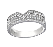 sterling silver cz band ring online jewelry store in South Africa