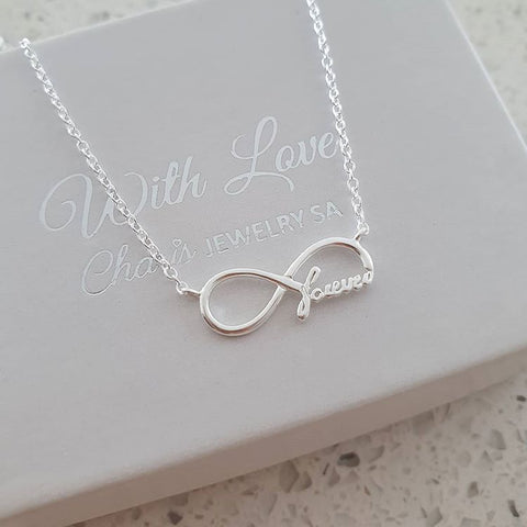 C269-C20753 - 925 Sterling Silver Infinity forever necklace