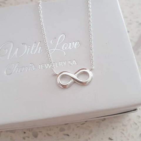 C677-C16923 - 925 Sterling Silver Infinity Necklace