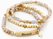 345719N - Blessed Stretch Alloy Bracelet
