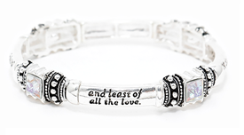 205N - Daughter Blessing, Clear stones, gift alloy stretch Bracelet