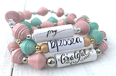 Inspirational Blessed, Pray, Grateful Bracelets online South Africa