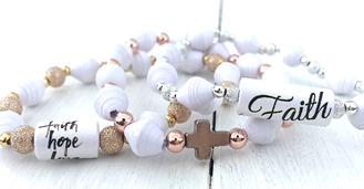 HA2 - Inspirational Stretch Bracelet, choose from 3 designs, comes in a gift box