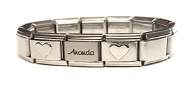 EST09 - Personalized Toddler / Children Starter Bracelet, Stainless Steel (Sizes Children to Adult)