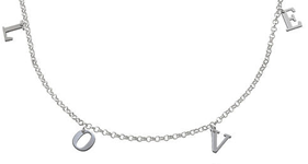 N152 - Name Choker Necklace in Sterling Silver - Up to 8 Characters