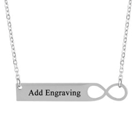 JONE101786 - Personalized Infinity Necklace, Stainless Steel
