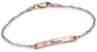 N161 - Women's ID Bracelet in 18K Rose Gold plating over Sterling Silver