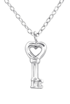 C363-C19670 - 925 Sterling Silver Key Necklace