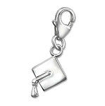 C911-C6781 - 925 Sterling Silver Graduation Cap dangle charm