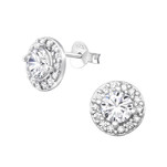 sterling silver cz ear stud earrings online shop in South Africa