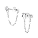 C919-C31359 - 925 Sterling Silver CZ Studs with Chain