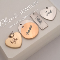 Personalized Charms for keyring, online store in South Africa