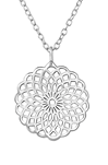 C902-C36307 - 925 Sterling Silver Filigree Patterned Necklace