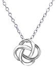 C387-C19122 - 925 Sterling Silver Love / Friendship Knot Necklace 8mm
