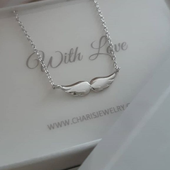 Sterling silver double wing necklace, online jewellery shop in SA