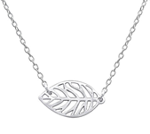 C362-C32261 - 925 Sterling Silver Leaf Necklace