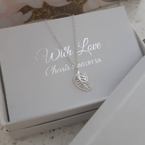 C839-C37099 - 925 Sterling Silver Leaf Necklace