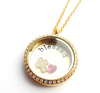 UN17 - High Quality stainless steel locket, clear on both sides, photo can be added to the back