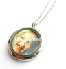 UN18 - High quality stainless steel locket, clear on both sides, photo can be added to the back.