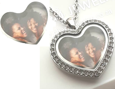 PH3 - Custom Heart Photo Print for inside any Heart Locket