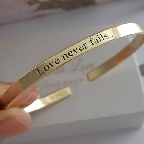 SJ3 - 14KT Gold Plated Personalized Adjustable Bangle