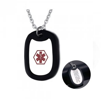 CNE101349 - Personalized Medical Alert Necklace, Stainless Steel