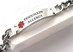Men's Personalized Medical Alert Bracelet, Titanium Steel