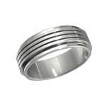 C1030-C11726 - Men's Stainless Steel Band Spinner Ring