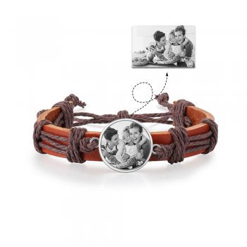 CBA103005 - Personalized Men's Photo Fashion Bracelet
