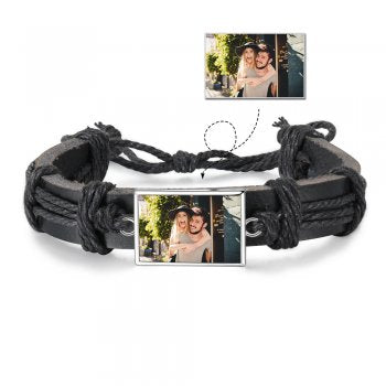 CBA103006 - Personalized Men's Photo Fashion Bracelet